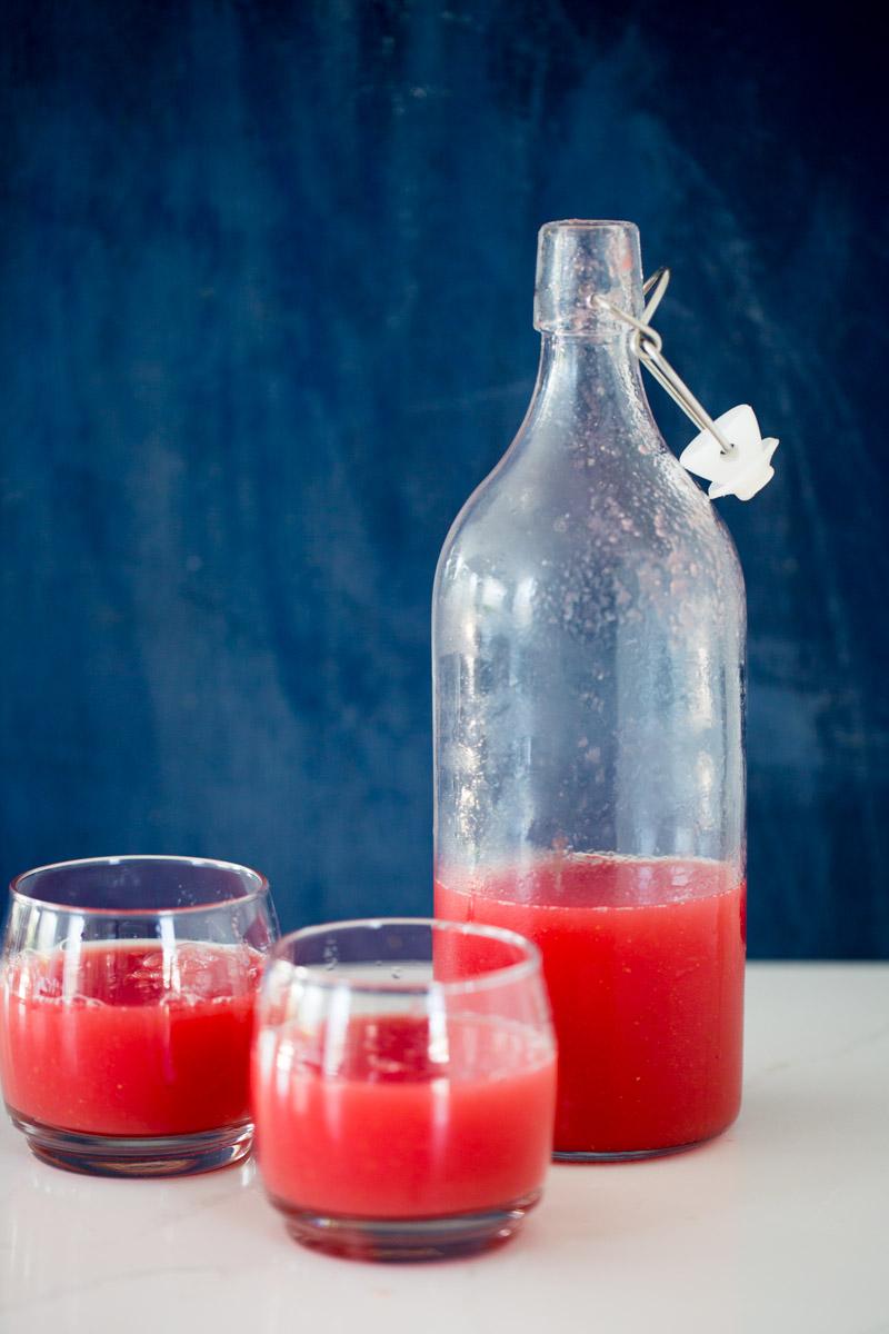 gazpacho de sandía, watermelon gazpacho