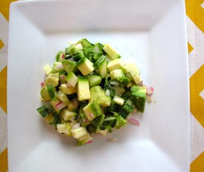Aguacate y calabaza, una ensalada diferente