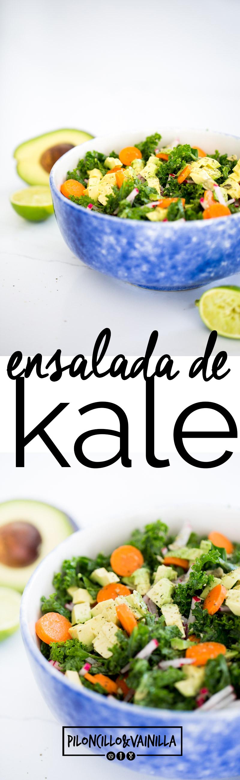 ¿Cómo hacer la mejor ensalada de kale? En esta receta te doy un super tip para que siempre tengas la mejor ensalada de kale. #recetasaludable, #recetaensalada, #recetasana