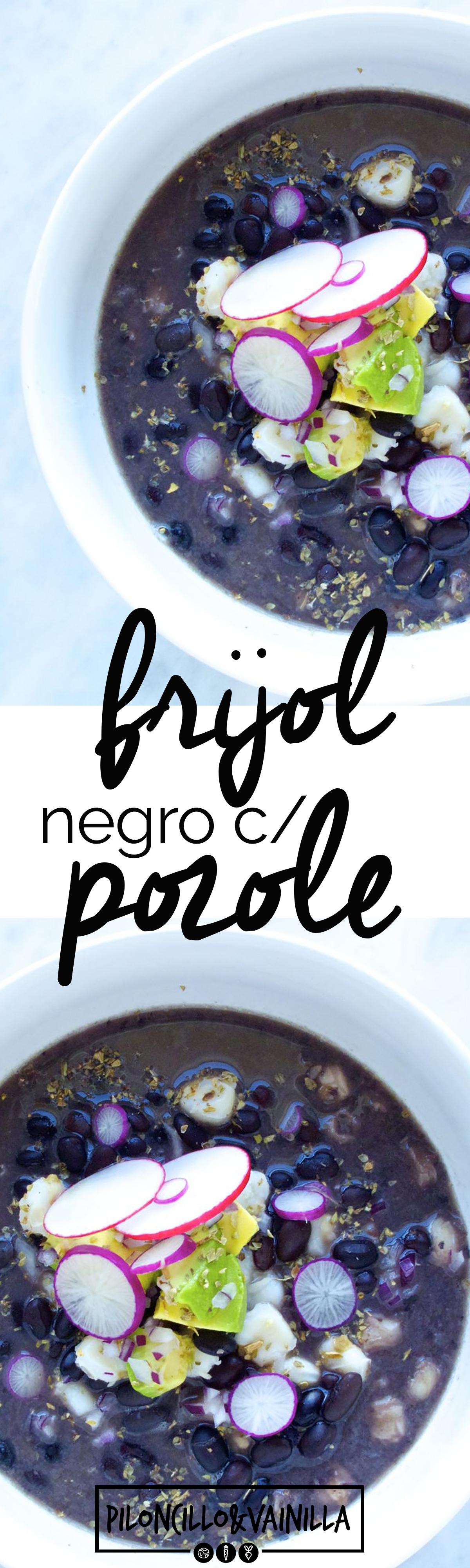 Pozole con frijol negro. Esta es la receta más autentica y mexicana que puede haber de esta sopa. Lo mejor es fácil y deliciosa.