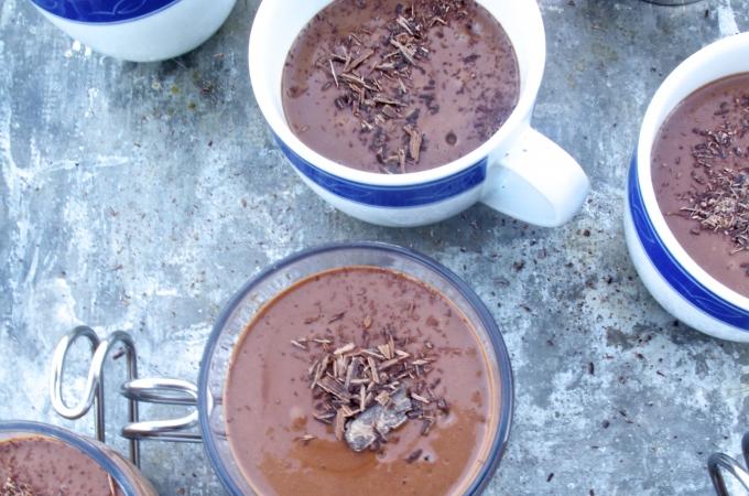 Mousse de chocolate obscuro