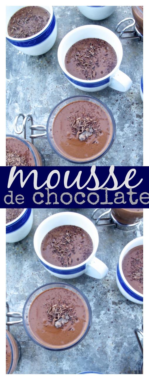 Mousse de chocolate vegano, cremoso, delicioso y super rico.