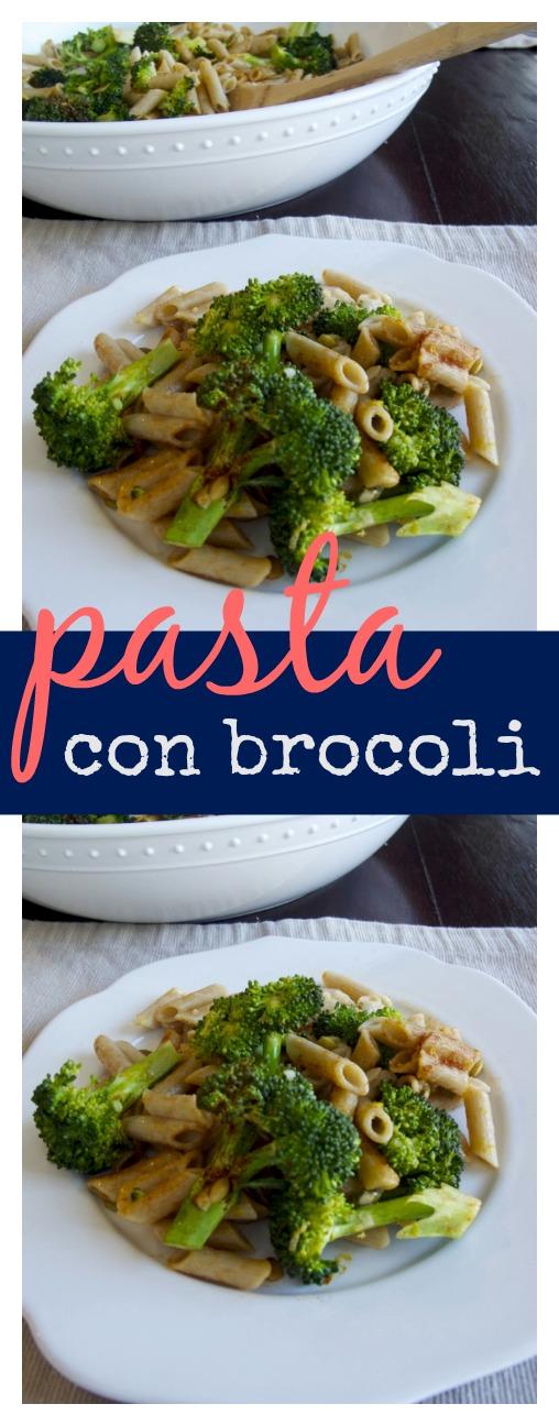 Pasta con brocoli, limon y ajo. Super rica, fácil y llena de proteinas y vitaminas. #vegana