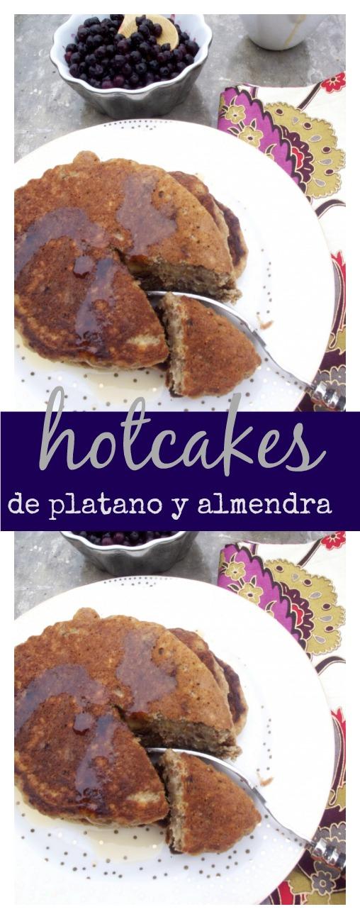 Hotcakes de platano y almendra. Sanos, deliciosos y 100% veganos.