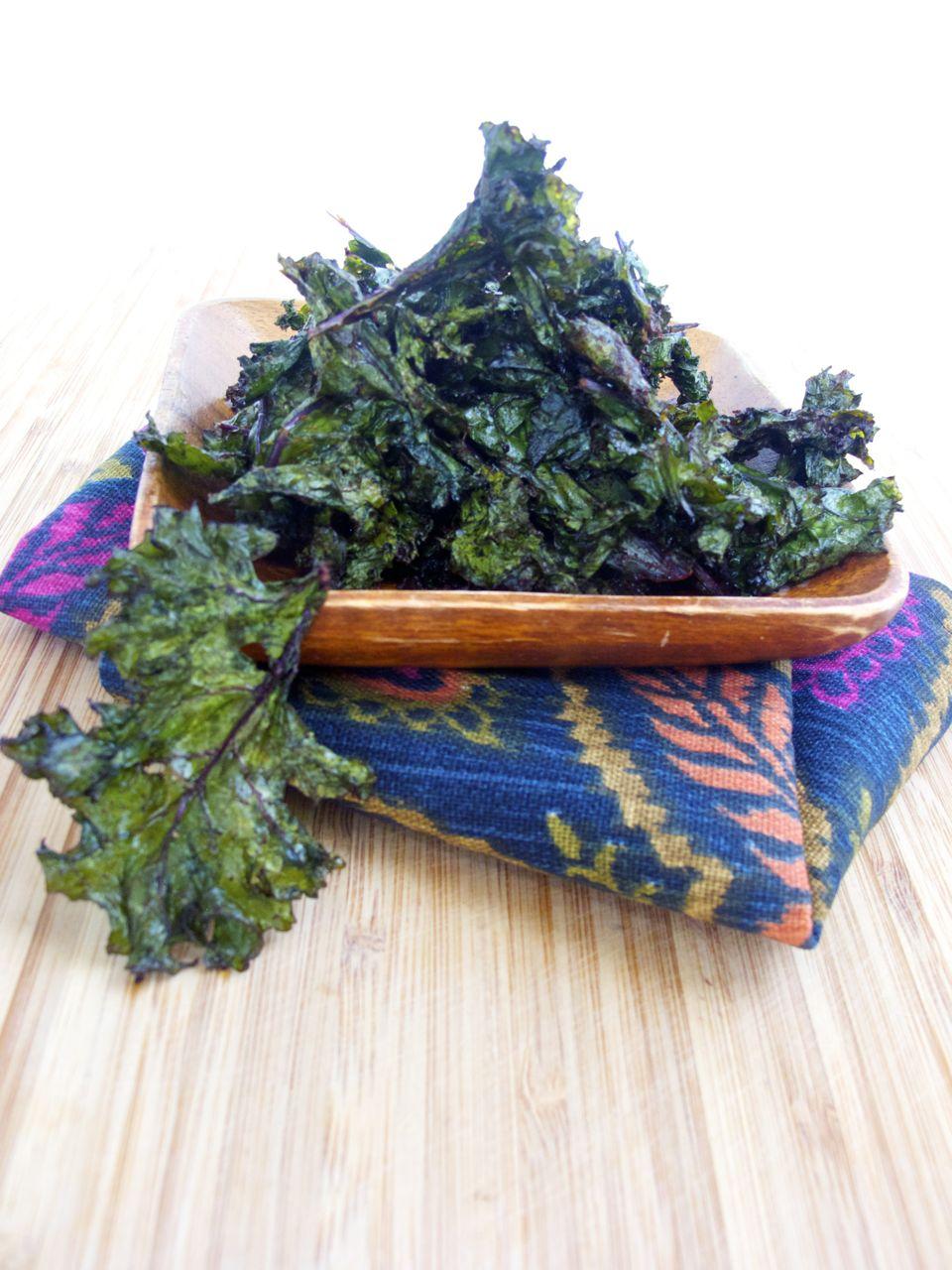 Kale and chipotle chips. Kale al horno con chipotle.