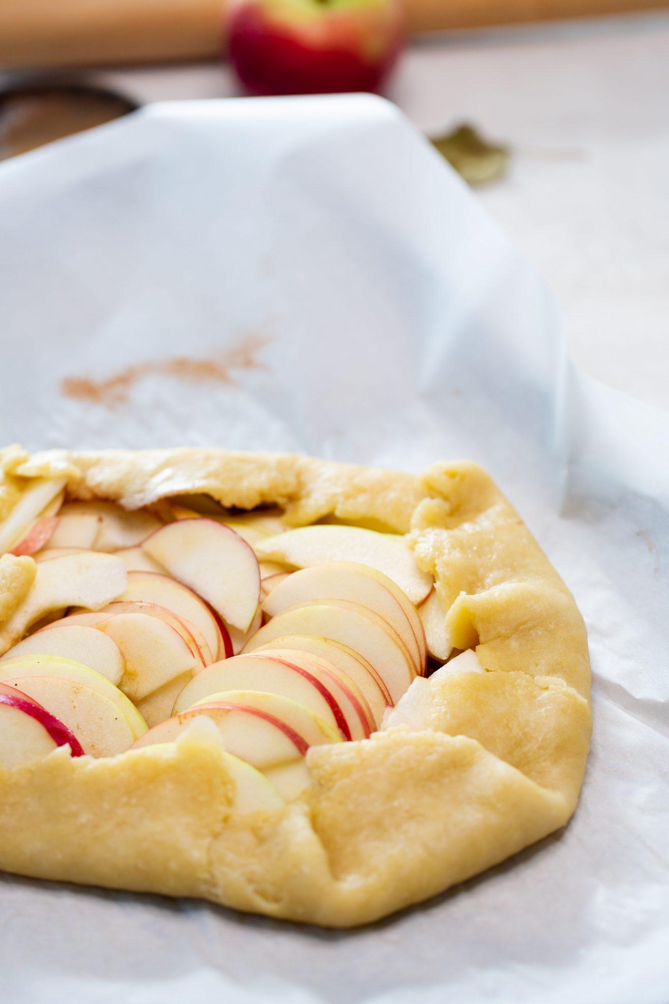Galette de manzana antes de meter al horno