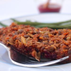 Pastel de lentejas vegano para Thankgiving