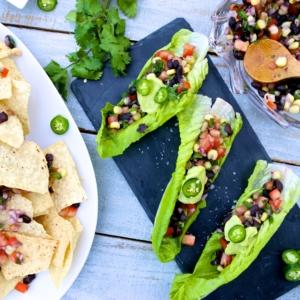 Pico de gallo:nachos o tacos