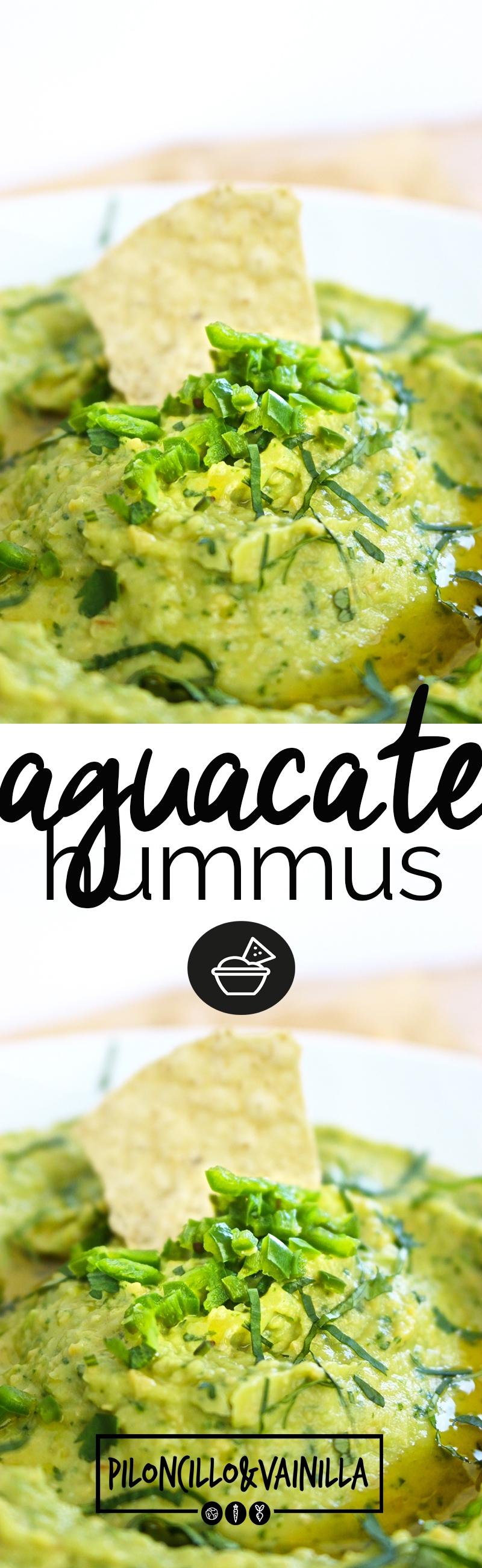 Esta receta de aguacate hummus o guacamole hummus es la perfecta combinación de los dos. Esta receta es perfecta para cuando tengas antojo de los dos y no sepas que hacer. #recetavegana, #recetasaludable, #vegano, #botanasana