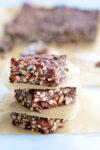 Barras de chocolate y cereal en 15 minutos