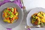 Ensalada de zanahoria rostizada