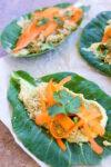 Wraps de hojas verdes, burritos veganos de hojas verdes con hummus y quinoa.