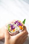 Burritos o wraps de hojas verdes