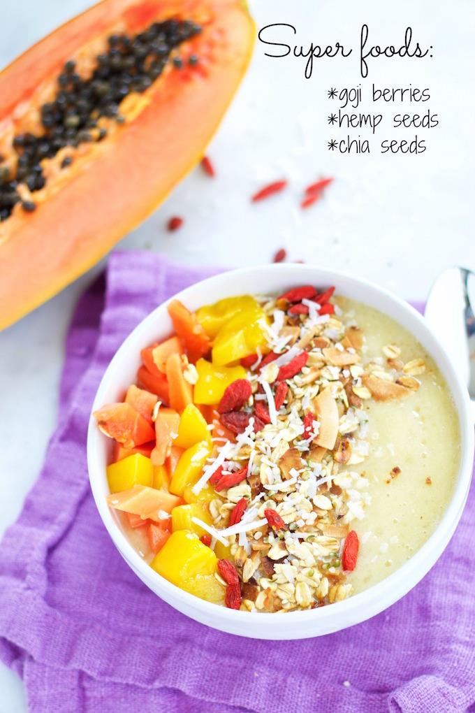 Tropical bowl para desayunar