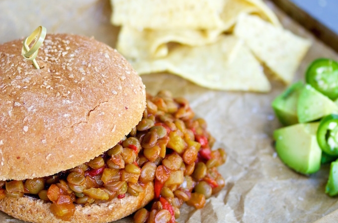 Sloppy Joes  de lentejas
