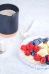 Bowl dulce de avena cremosa para desayunar