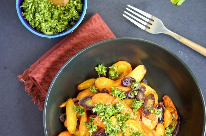 Zanahorias con salsa verde