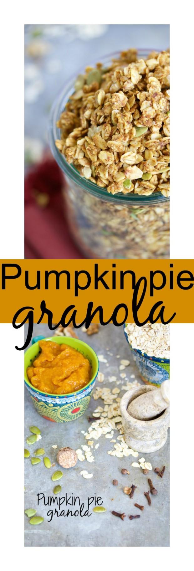 Deliciosa granola con sabor a pie de calabaza. Te prometo que el desayuno va a saber a postre!