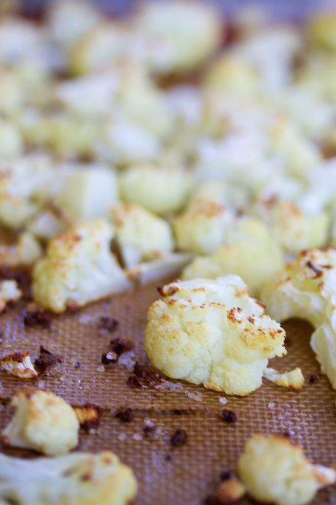 Farro con coliflor rostizada y romesco.P&V#vegan