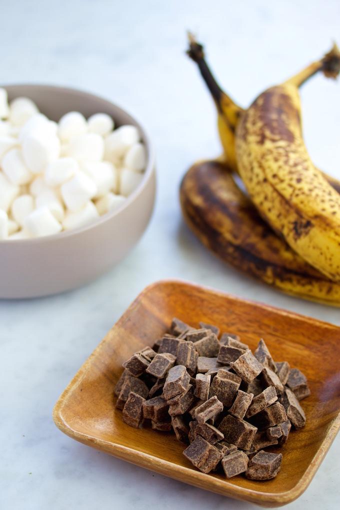 S'mores de plátano .p&V#vegan