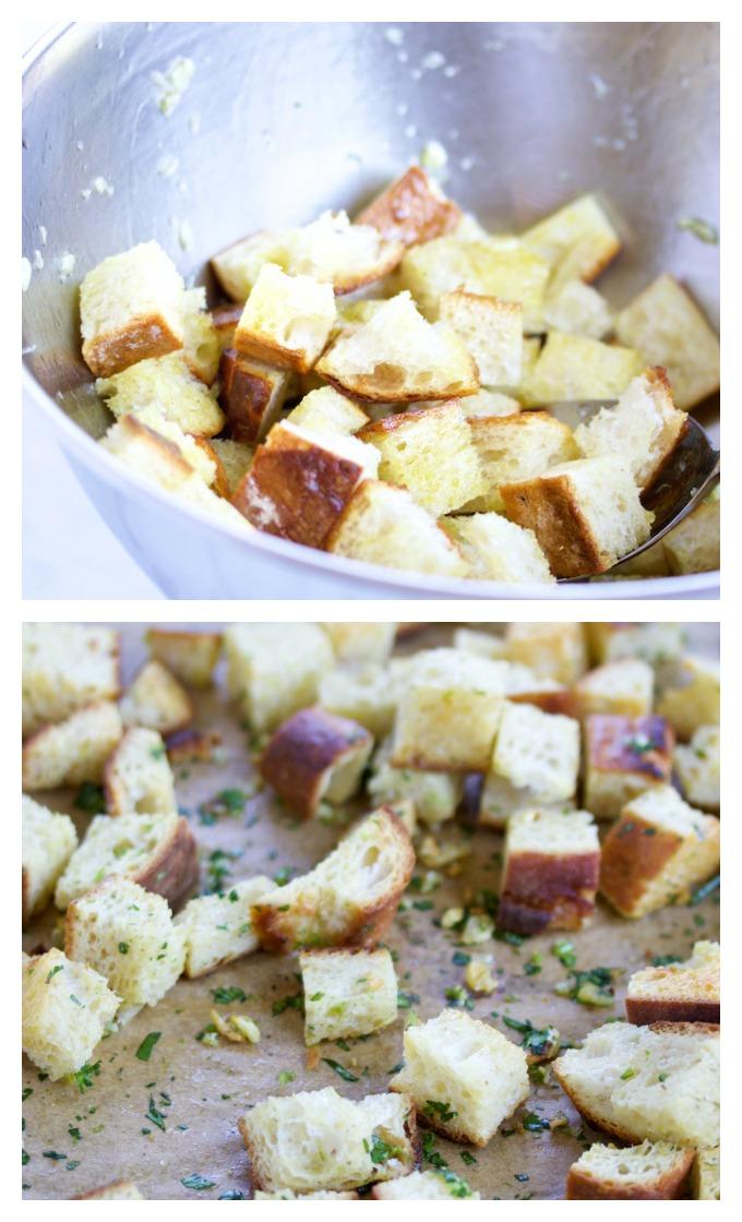 Sopa de brocoli con croutones.P&V