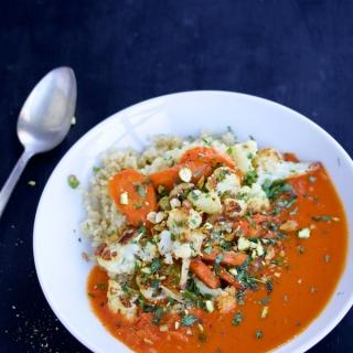 Curry Thai con verduras rostizadas en 15 minutos.p&V