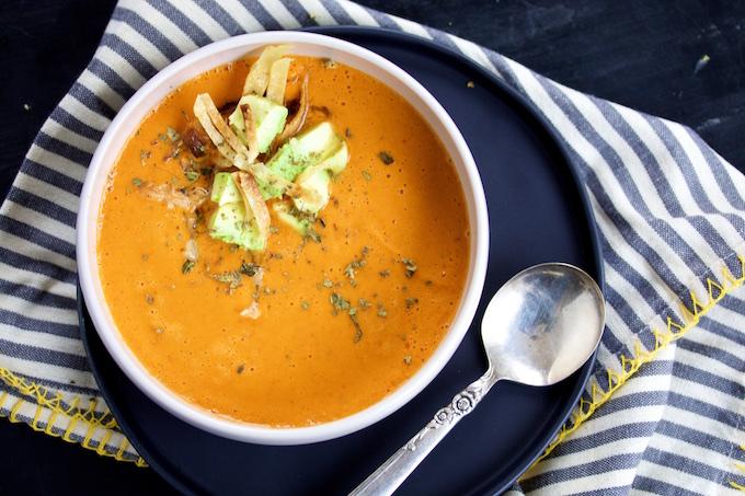 receta de sopa de tomate mexicana