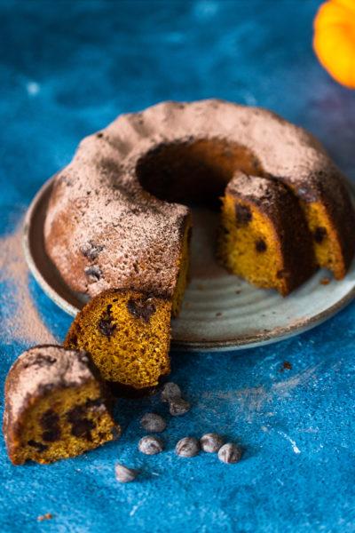 Pan de calabaza y chocolate obscuro