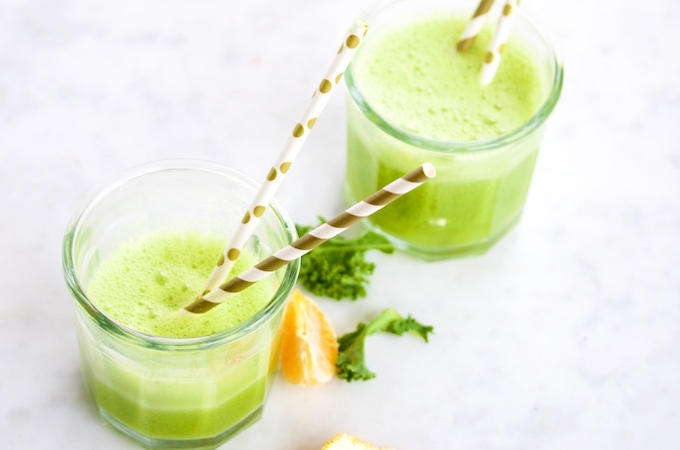 Smoothie de kale y mandarina para empezar el año