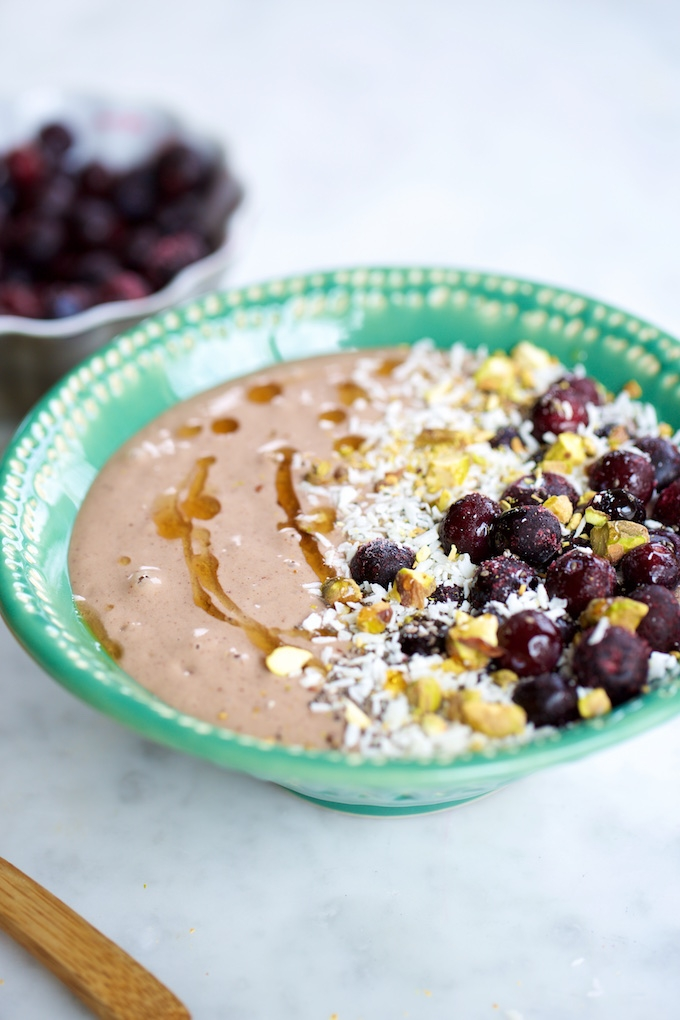 Super desayuno, batidos en tazón, smoothie bowls.p&V