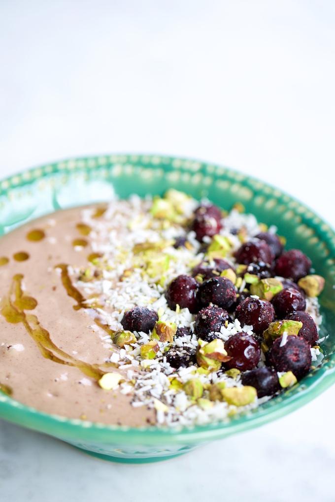smoothie en un bowl