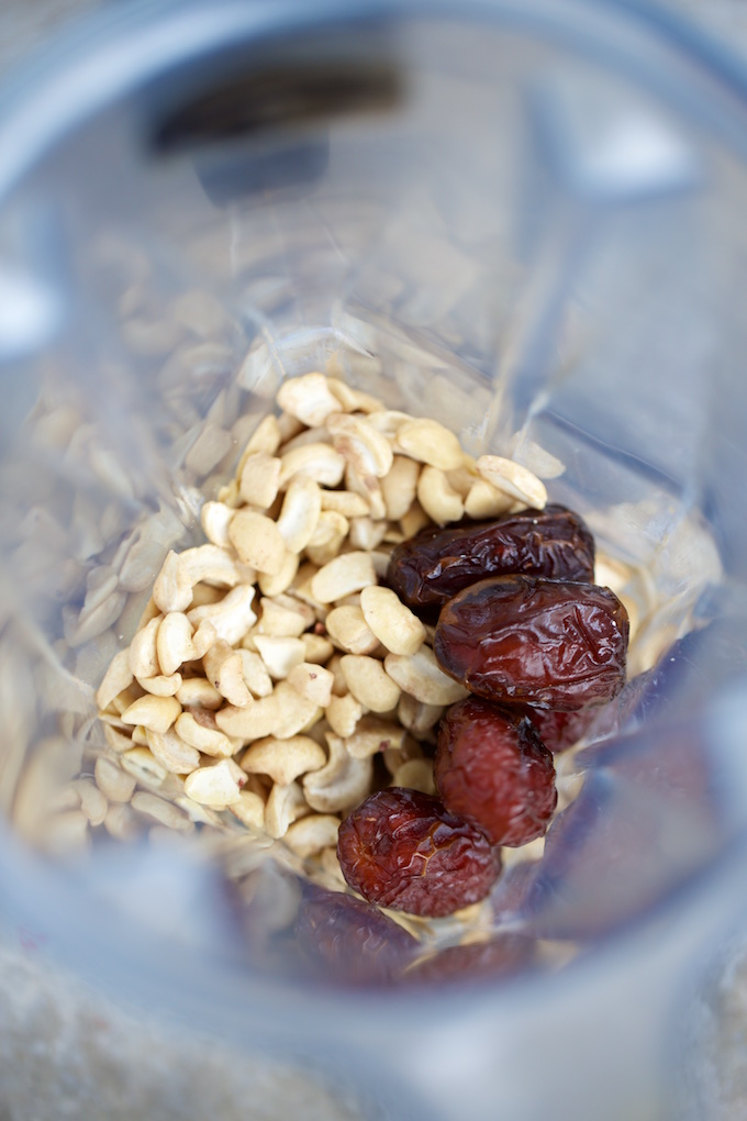 ingredientes para hacer leche de cashew