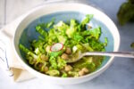 Recipe for the best green Mexican Soup with chickpeas ever.