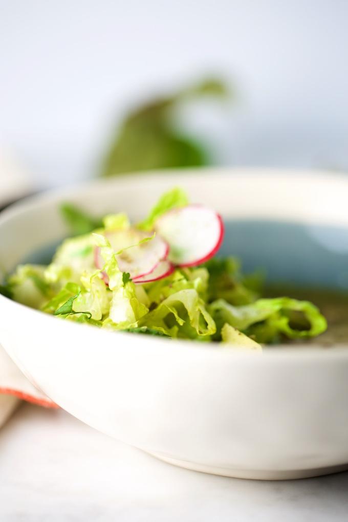 Pozole verde vegano