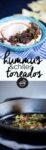 hummus con chiles toreados.