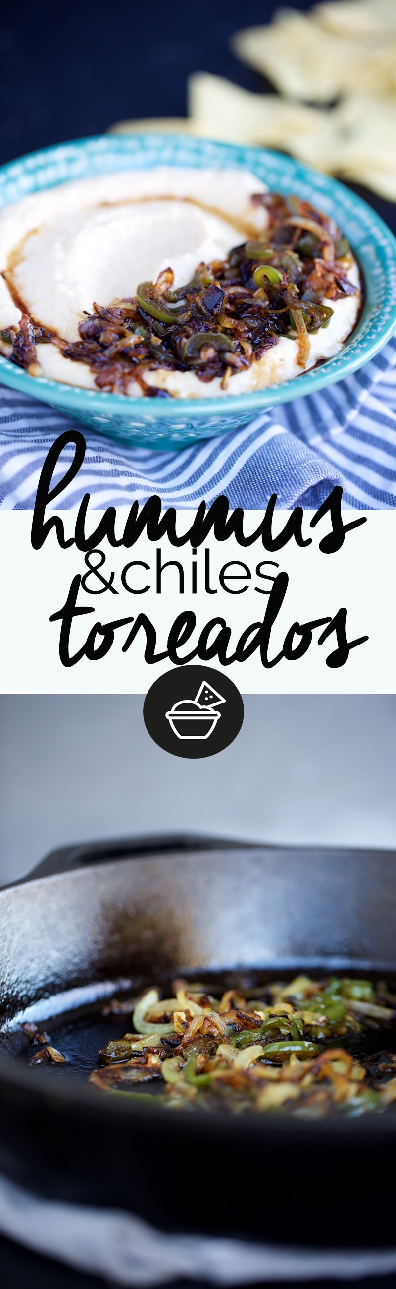 hummus con chiles toreados.