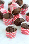 Muffins de chocolate con zucchini y miel de maple