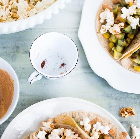 Tacos de calabacita con palomitas