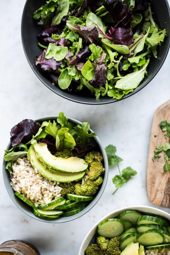 Bowl de verduras sanas