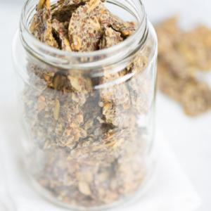 Crackers de semillas y avena.