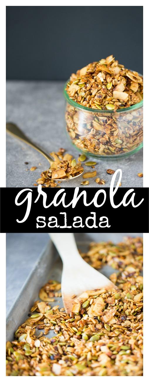Granola salada para ensaladas o lo que se te ocurra. Es deliciosa!