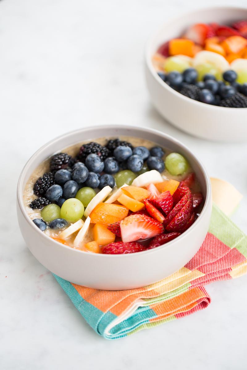 Smoothie bowl con el arcoiris