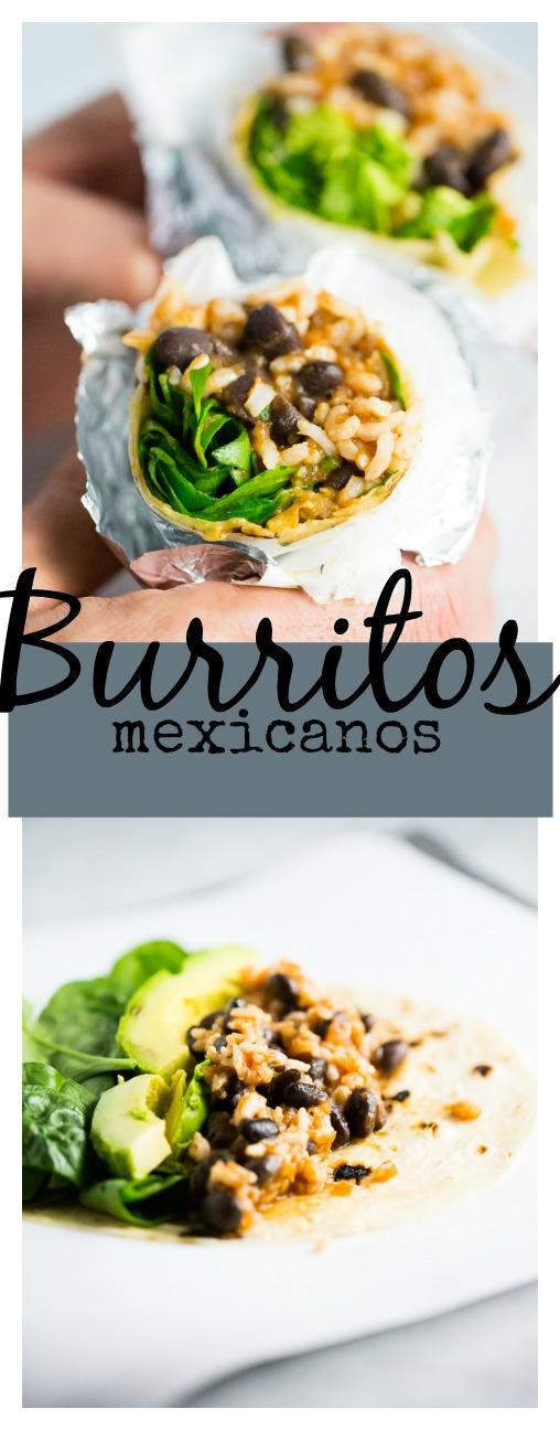 Deliciosos burritos de fijol y arroz integral con salsa de enchilada. Fáciles y rápidos de hacer, 100%veganos.