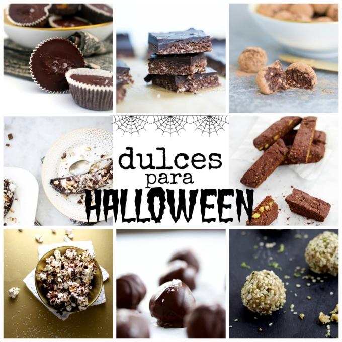Dulces más sanos para Halloween. Fáciles de hacer y veganos.