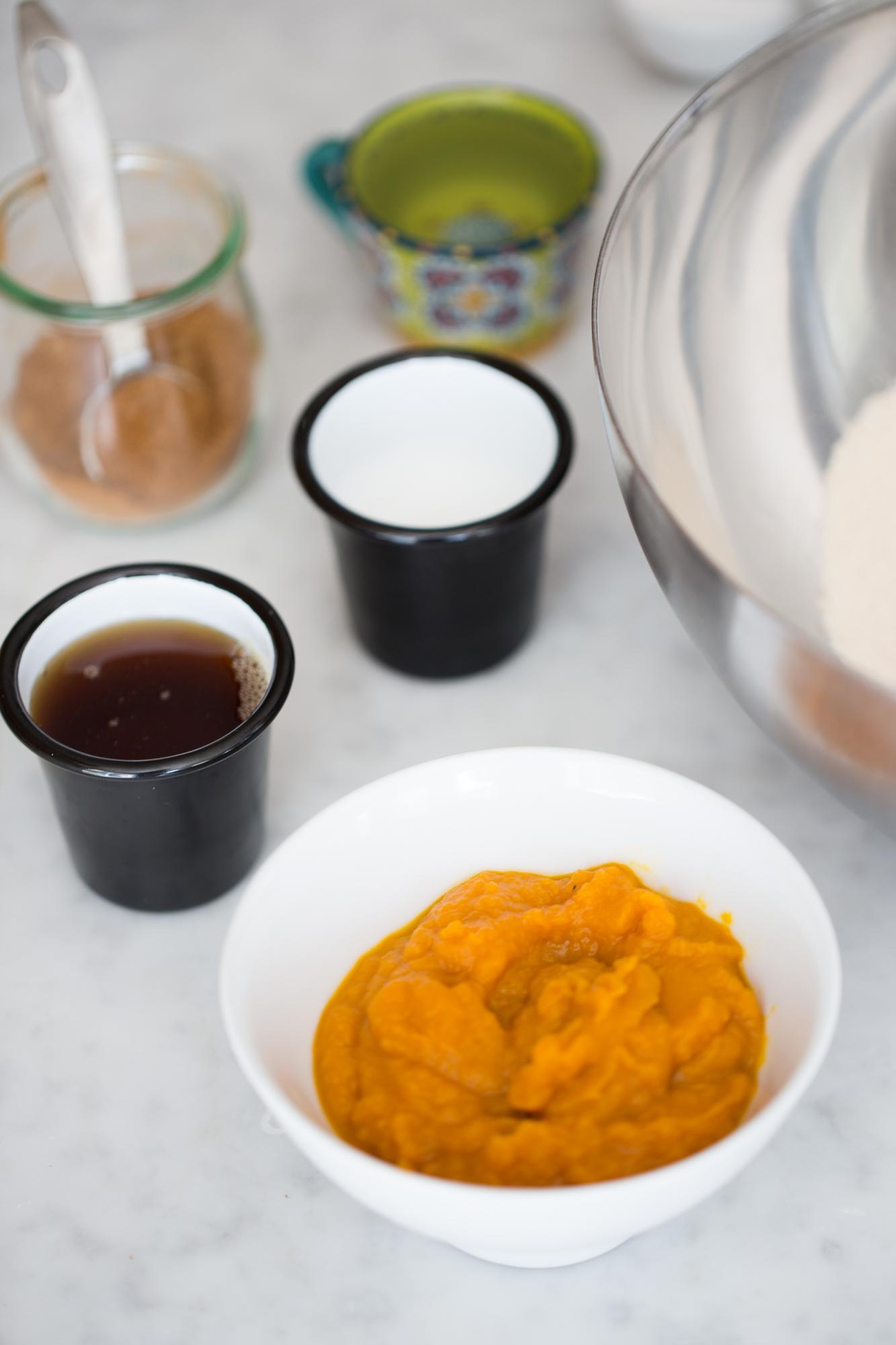 Scones de calabaza con glasé de maple - Piloncillo&Vainilla