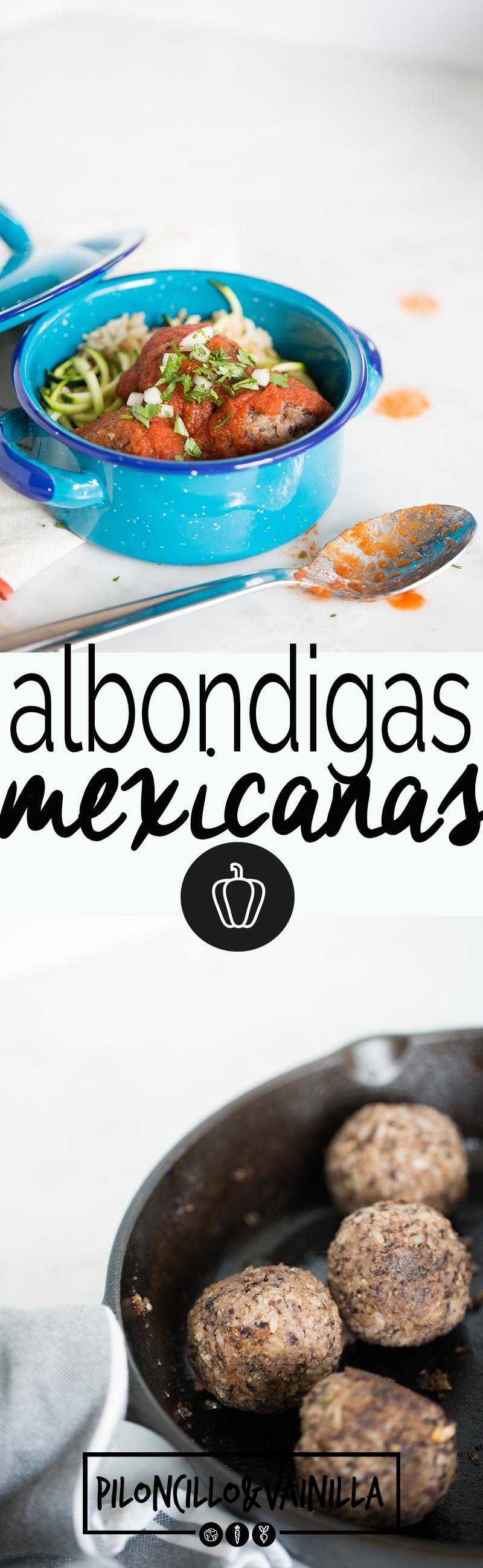 Esta receta de albóndigas mexicanas, sin carne, en salsa de tomate con chipotle es lo más rico, sano y delicioso del mundo. #vegana, #vegano, #recetavegetariana, #recetalight, #recetasaludable