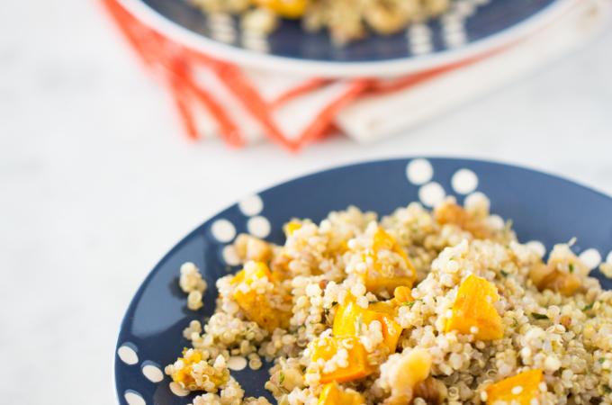 Ensalada de quinoa con calabaza delicata