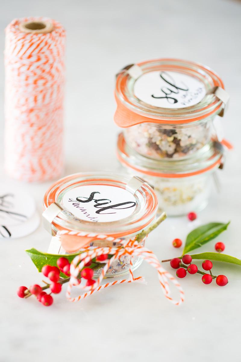 Sal con sabores para regalos de Navidad