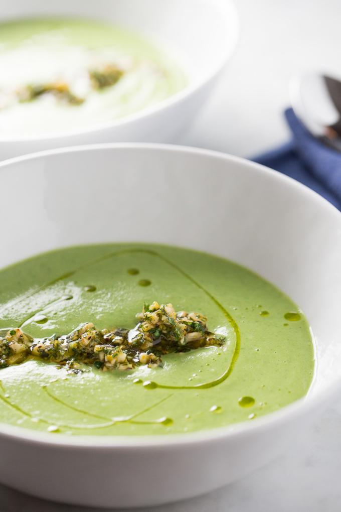 Receta de sopa de brocoli con cashews