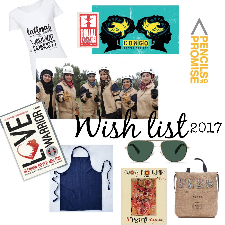 Lista de regalos para Navidad:Wish list 2017